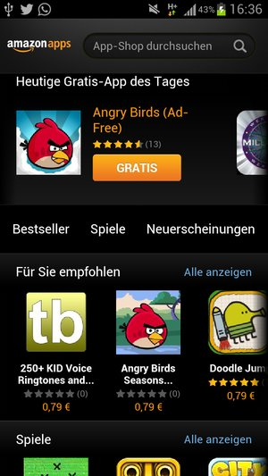 Amazon App Store Android 1