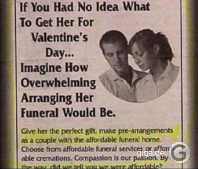 Wie Romantisch, Das Gemeinsame Begräbnis Am Valentinstag ...