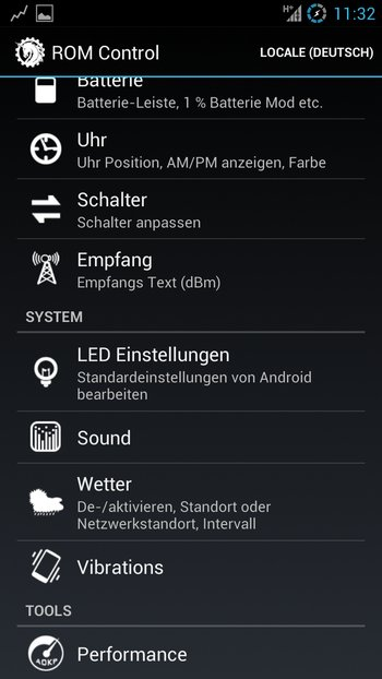 AOKP Jelly Bean Galaxy S3 Einstellungen 2