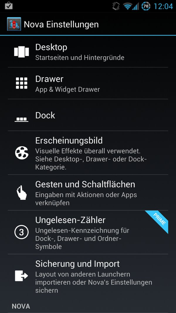 AOKP Jelly Bean Galaxy S3 Einstellungen 3