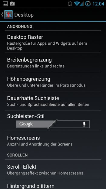 AOKP Jelly Bean Galaxy S3 Einstellungen 4