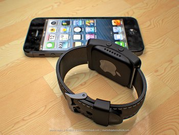 Mockup der Apple iWatch