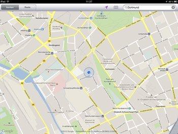 Stadtplan-Ansicht in Google Maps