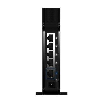 Der GigaGate Satellite bietet neben schnellem WLAN insgesamt fünf Multimedia-Ports