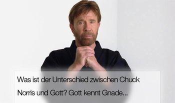 Der Unterschied zwischen Gott und Chuck Norris