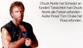 Fast alle Farben stammen von Chuck Norris