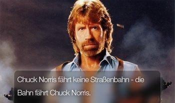 Bahnfahren mit Chuck Norris