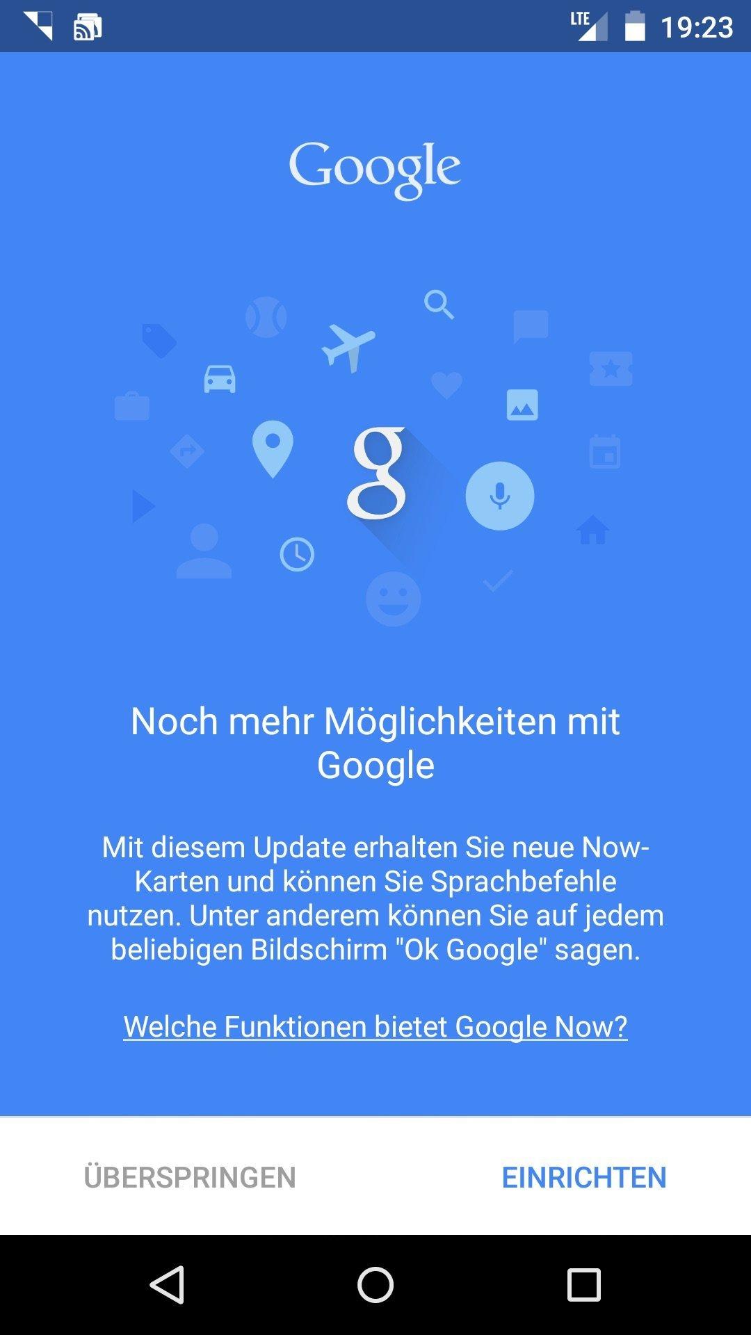 Einrichten ok google