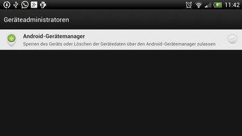 """Dort den """"Android-Gerätemanager"""" auswählen."""