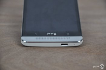 HTC One Spaltmaße - unten erkennt man ein minimales Spaltmaß