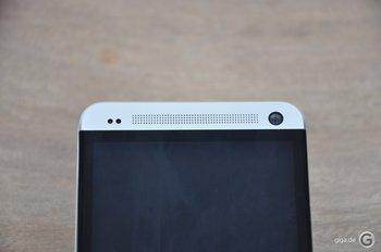 HTC One Spaltmaße - An der oberen Front gibt es nichts zu meckern