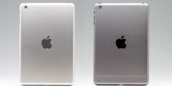 """iPad mini 2 in """"Spacegrau"""" im Vergleich zum bisherigen Grau"""