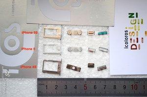 SIM-Karten-Halter, Lautstärke-Regler, Stummschalter und Power-Knopf