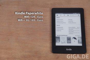 Preise des Kindle Paperwhite in beiden Varianten.