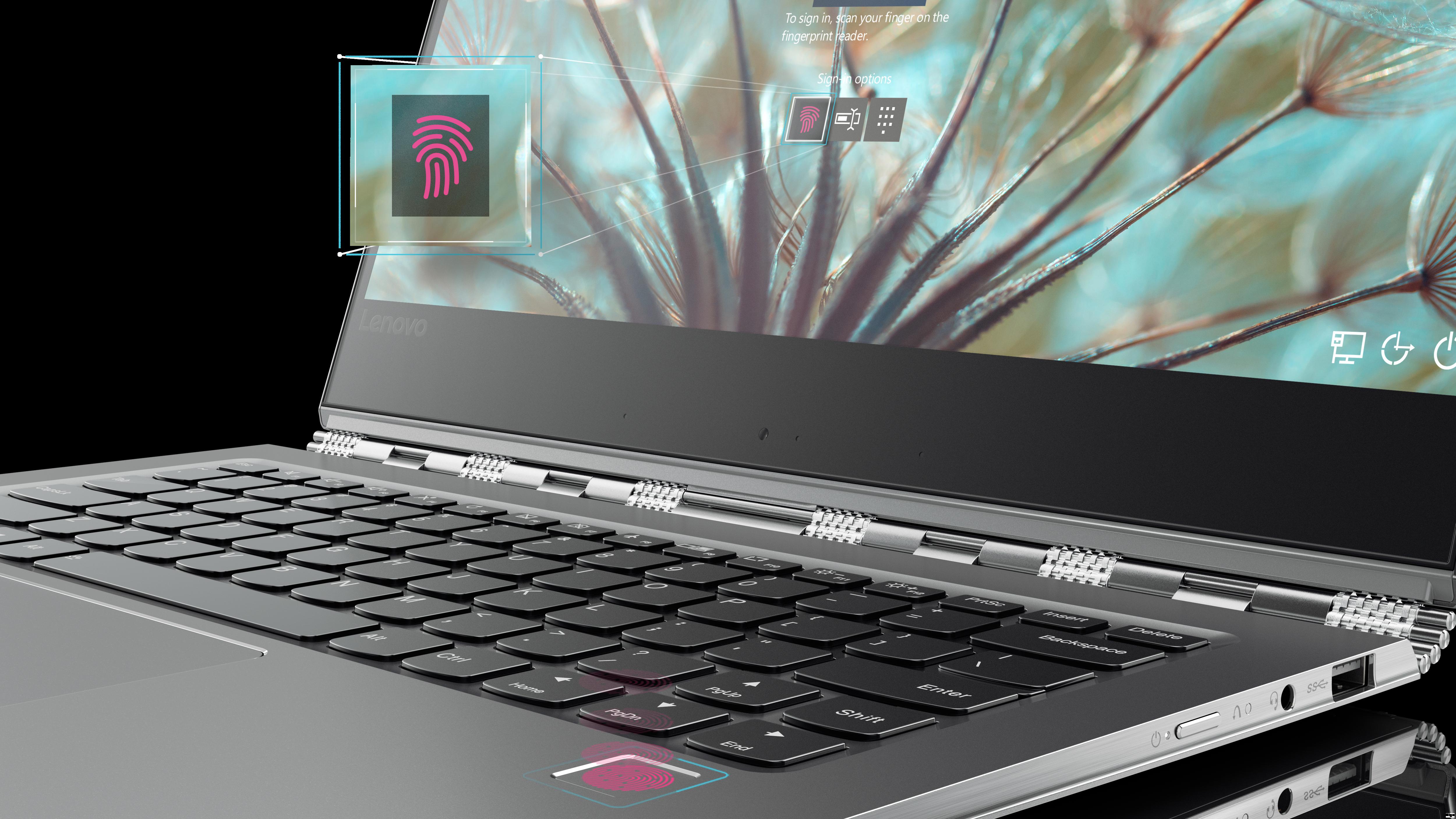 Lenovo Yoga 910 Convertible Fingerprint Reader In Gold