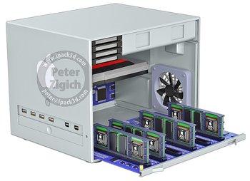 Mac Pro Konzept mit 12 ARM CPUs (48 Kerne) und 96 GB RAM