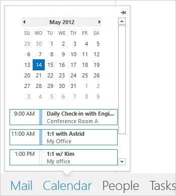 Kalender unter Outlook 2013