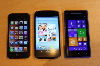 Nexus 4 by Techcrunch - Nexus 4 vs iPhone 5 vs. Nokia Lumia 920