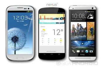Nexus 5 vs. Samsung Galaxy S3 vs. HTC One