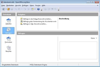 Apache OpenOffice Base Screenshot