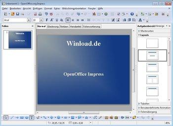 Apache OpenOffice Impress Screenshot