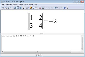 Apache OpenOffice Math Screenshot