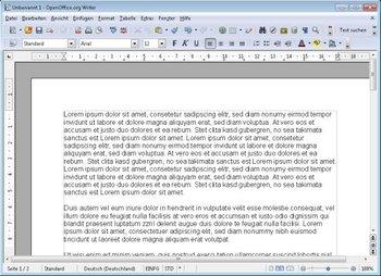 Apache OpenOffice Writer Screenshot