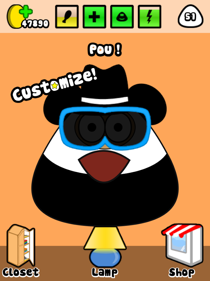 Pou f r android giga for Kuchenplaner fur android
