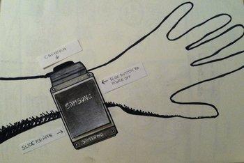 Samsung Galaxy Gear Skizze