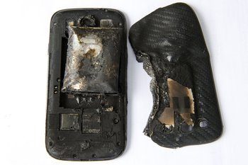 So sah das Smartphone nach der Explosion aus