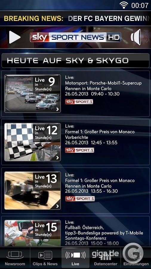 Sky Sport News HD für Android Screenshot