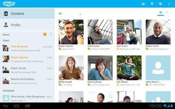 Skype fuer Android Kontakte