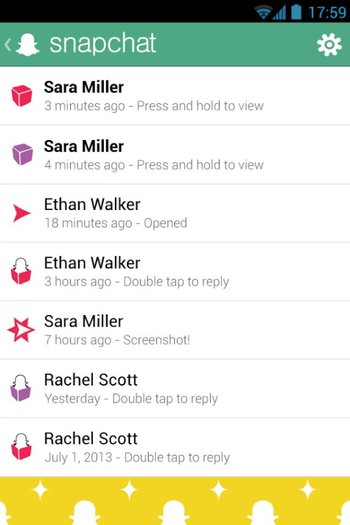 Snapchat für Android Screenshot 1