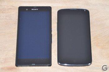 Sony Xperia Z und Nexus 4