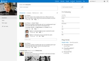 The new Office Social with SharePoint
