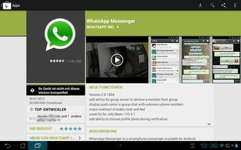 Whatsapp auf Android Tablet 1