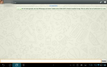 Whatsapp auf Android Tablet 7