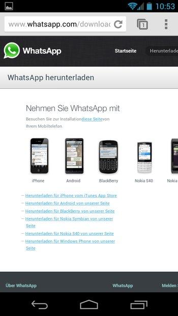 Ihr müsst unbedingt die Desktop-Seite von Whatsapp öffnen