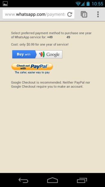 Jetzt könnt ihr Whatsapp mit PayPal bezahlen