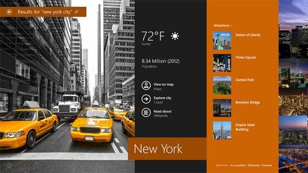 Unter anderem wurde in Windows 8.1 die Suchfunktion stark verbessert