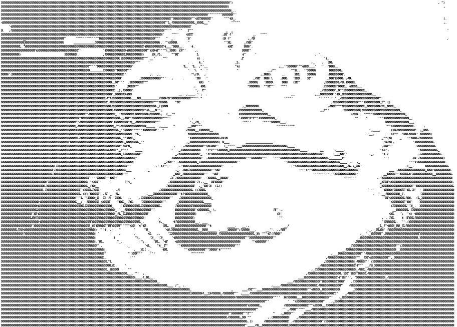 Jabba the Hut als ASCII Art