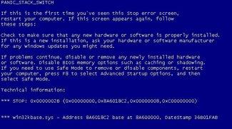 BlueScreen Screen Saver