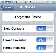 Firmware 3.0: Sync mittels Bluetooth