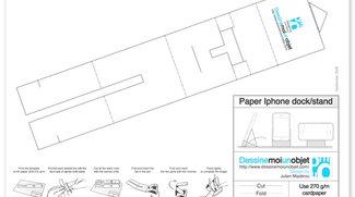 Paper Stand: iPhone Dock aus Papier