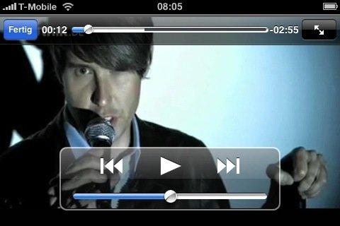 Tocotronic spielt live auf dem iPhone