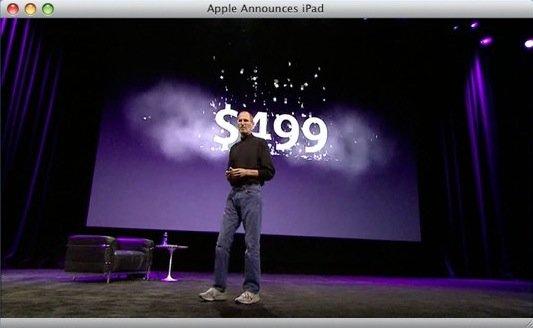 iPad-Keynote mit Hinweisen auf neue iWork-Version