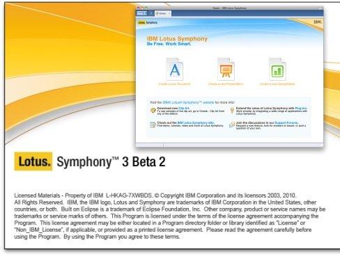 IBM Lotus Symphony fordert Microsoft Office heraus