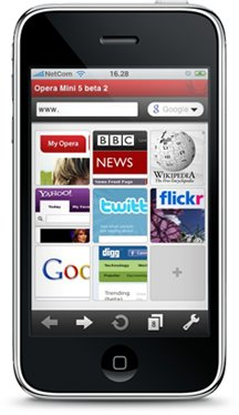 Opera mini iPhone Browser