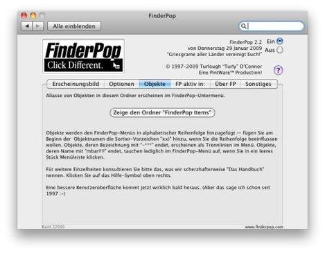 FinderOppEinstell