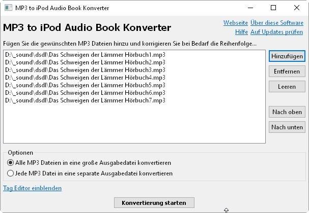 MP3-to-iPod-Audio-Book-Konverter